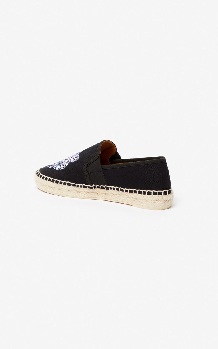 BLACK Tiger elasticated espadrilles for men KENZO