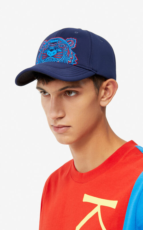 NAVY BLUE Tiger Canvas Cap for women KENZO