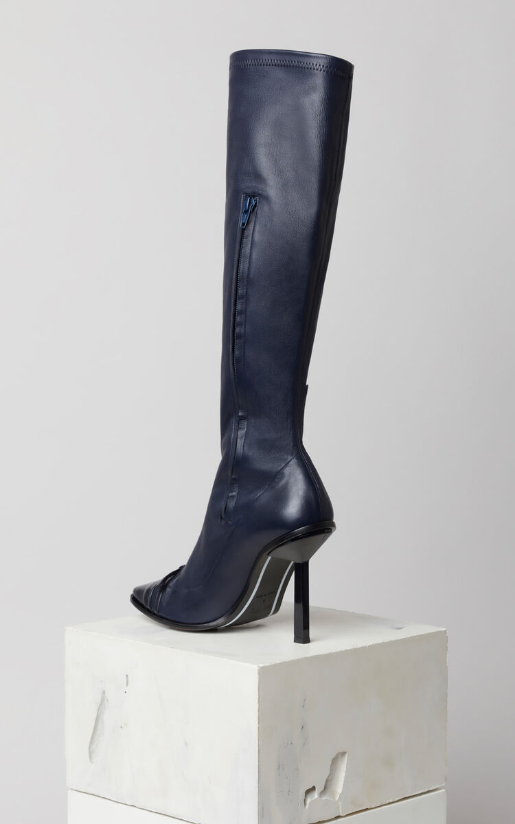 NAVY BLUE Boots with narrow heels for women KENZO