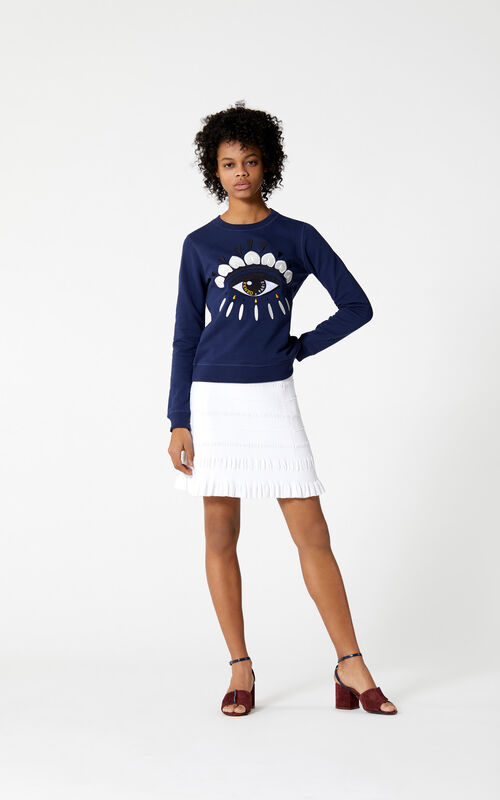 MIDNIGHT BLUE Eye Sweatshirt  for women KENZO
