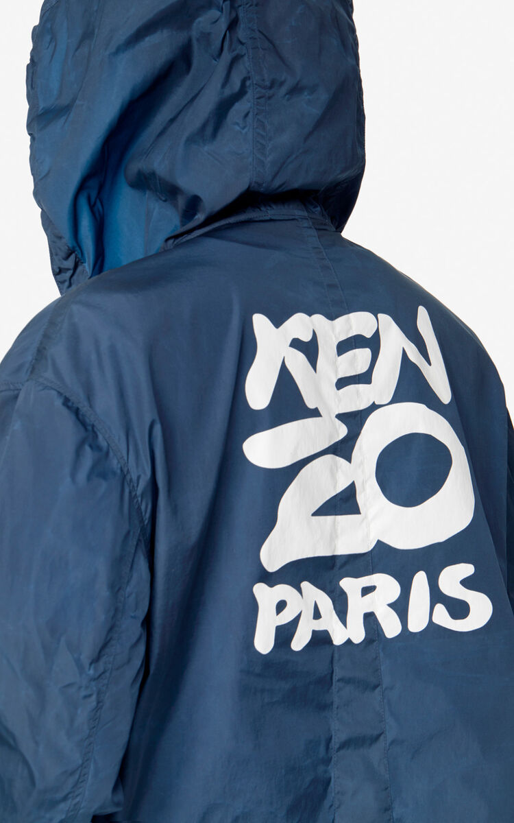 DUCK BLUE KENZO Paris hooded jacket  for men