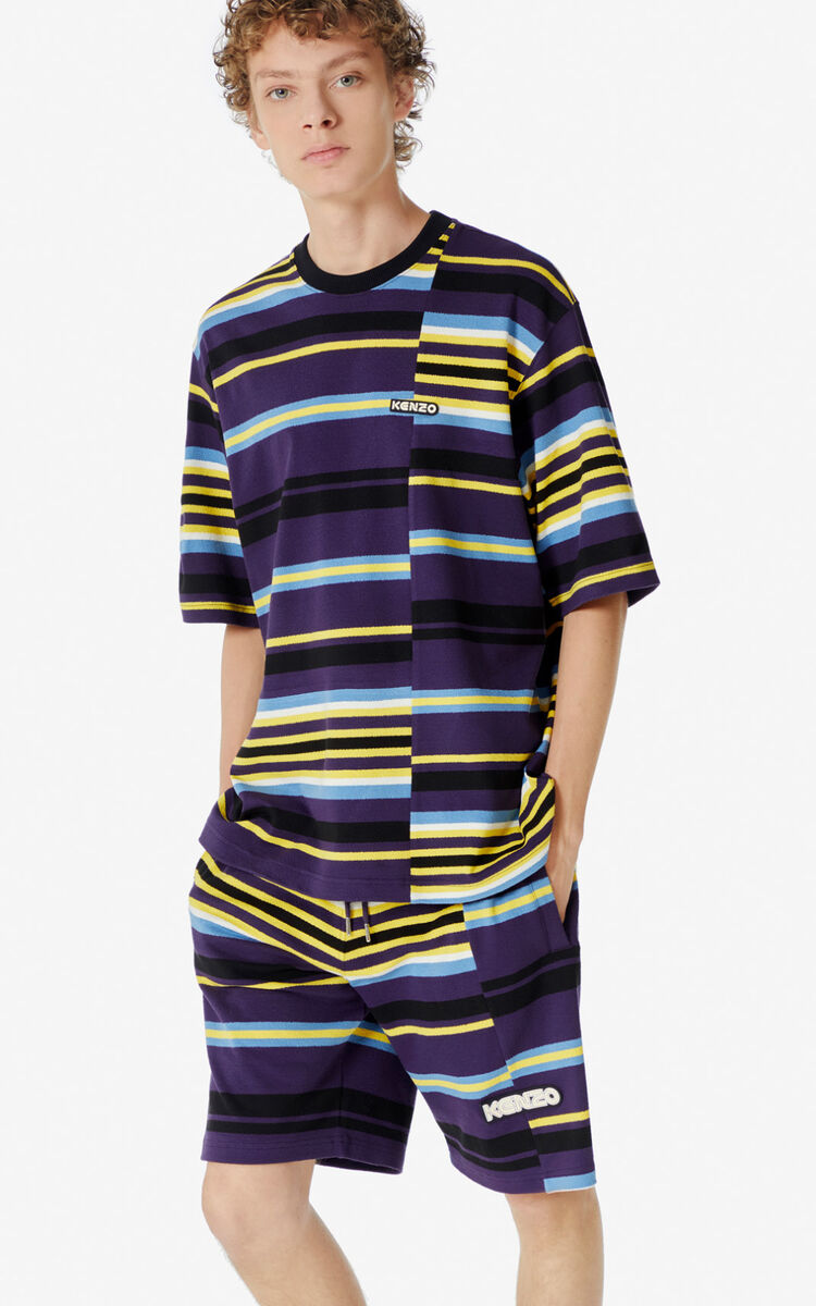 AUBERGINE Striped t-shirt for men KENZO