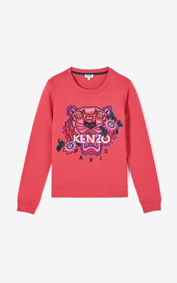 CORAL 'Passion Flower' Tiger sweatshirt for women KENZO