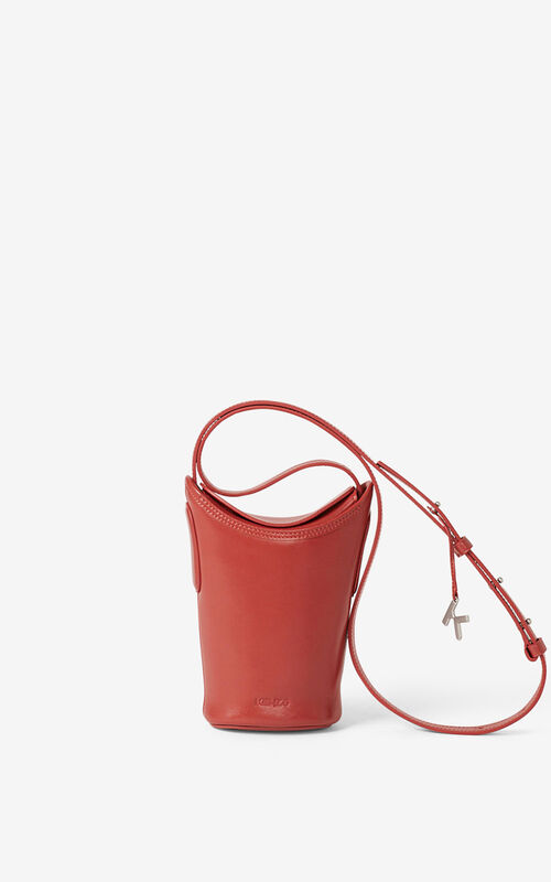 POPPY Small KENZO Onda leather bucket bag for unisex