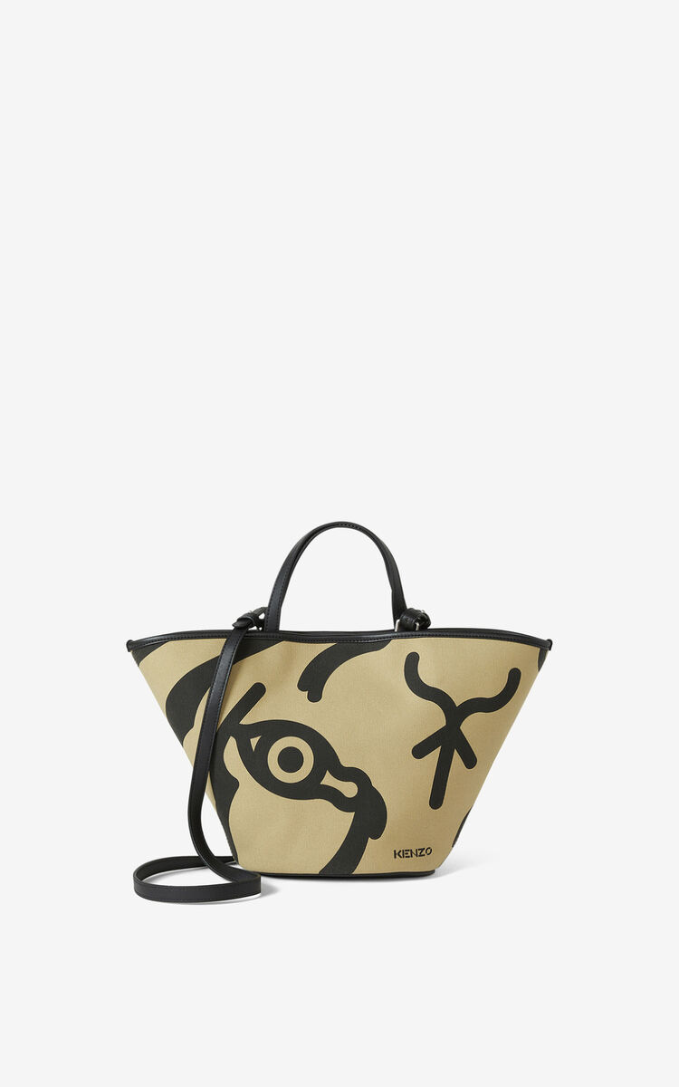 BEIGE KENZO Arc small tote on strap for unisex