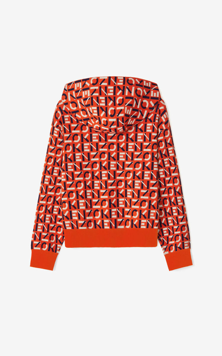 DEEP ORANGE KENZO Sport monogram jacquard jacket for women
