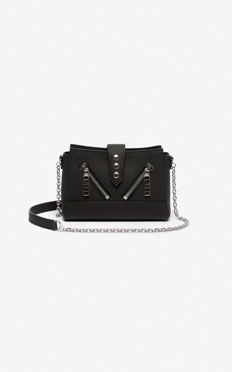 BLACK Tiny leather Kalifornia bag for unisex KENZO