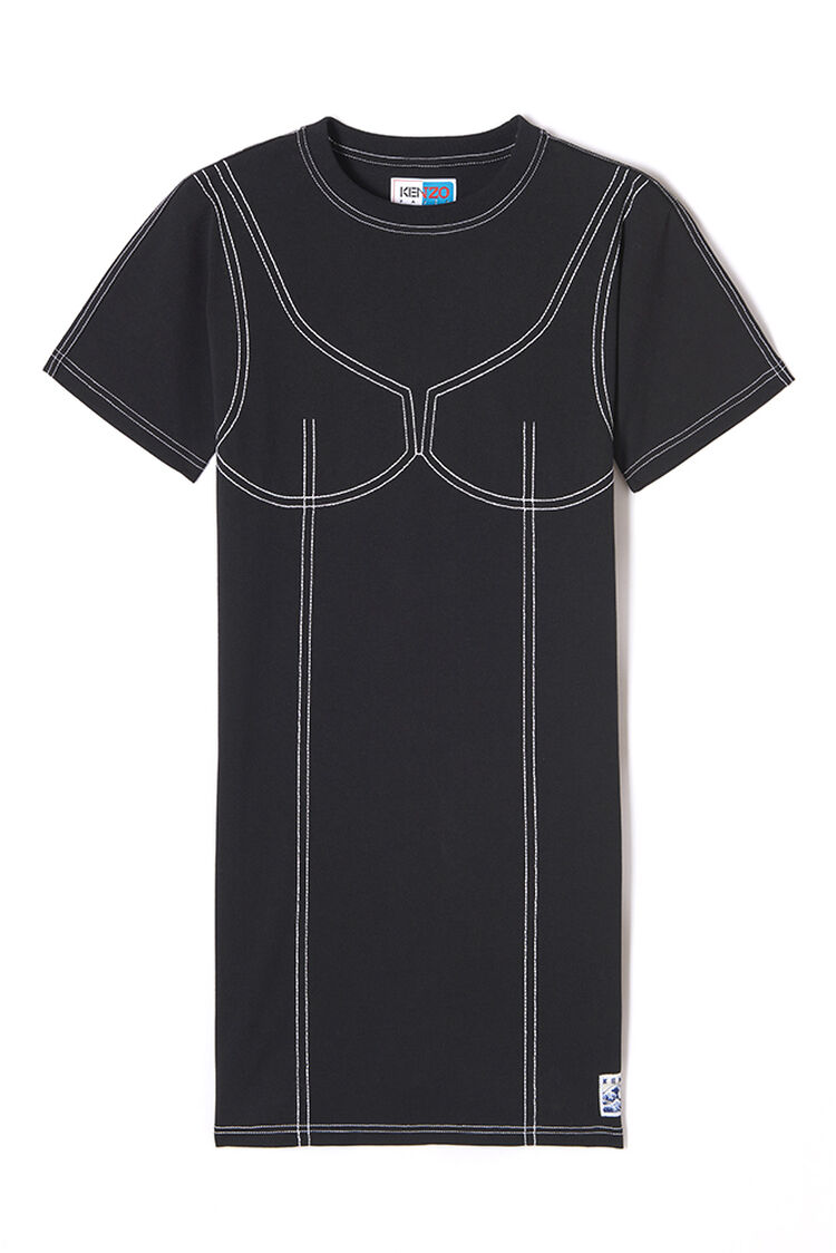 BLACK Illusion T-shirt dress for women KENZO