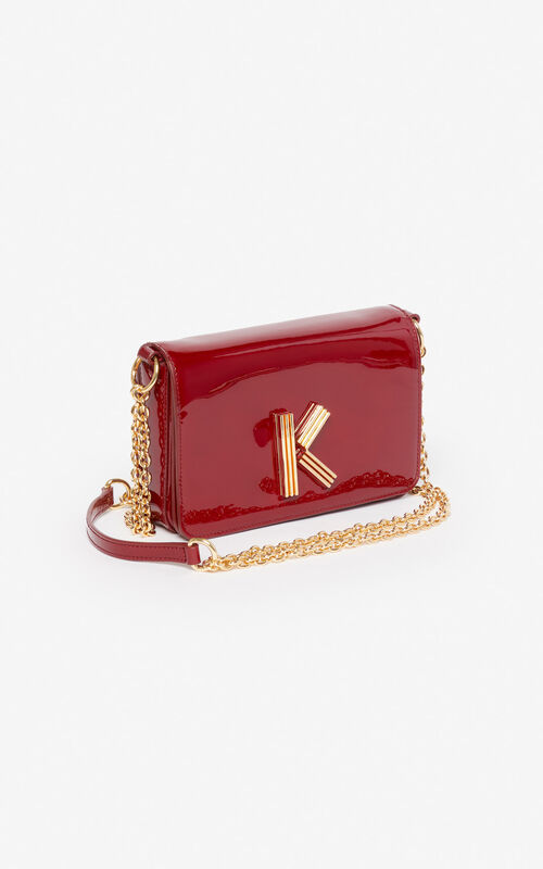 VERMILLION K-Bag Chainy patent bag for unisex KENZO
