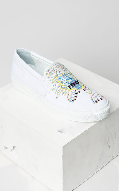 Géo-Tiger x Rainbow  Slip-on, WHITE, KENZO
