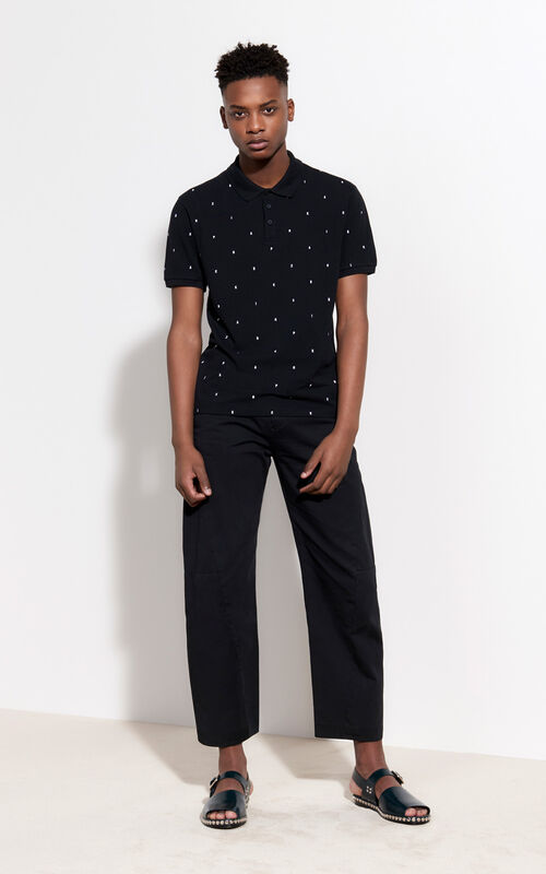 BLACK Paradise Polo for men KENZO