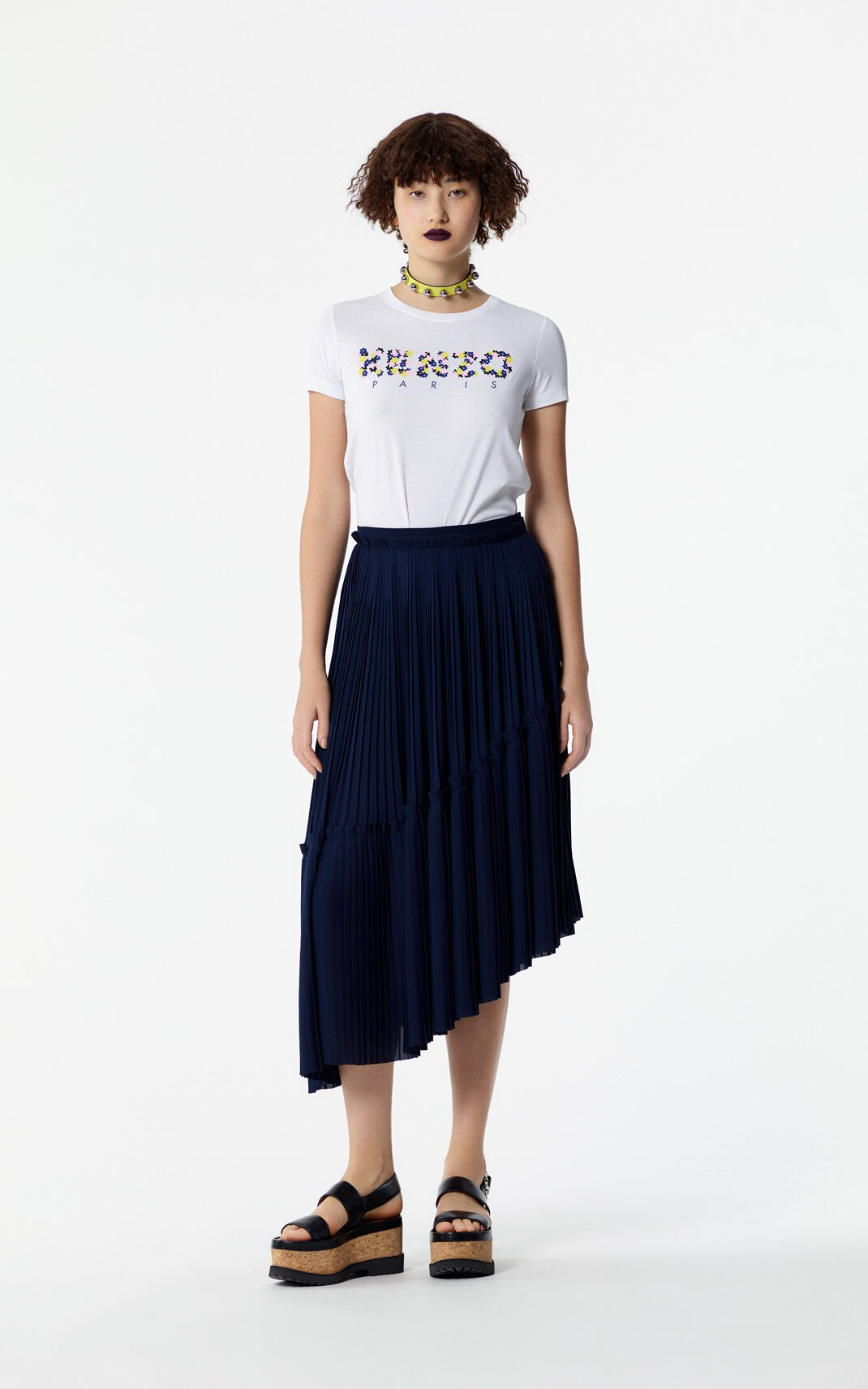 NAVY BLUE Asymmetrical Skirt for women KENZO
