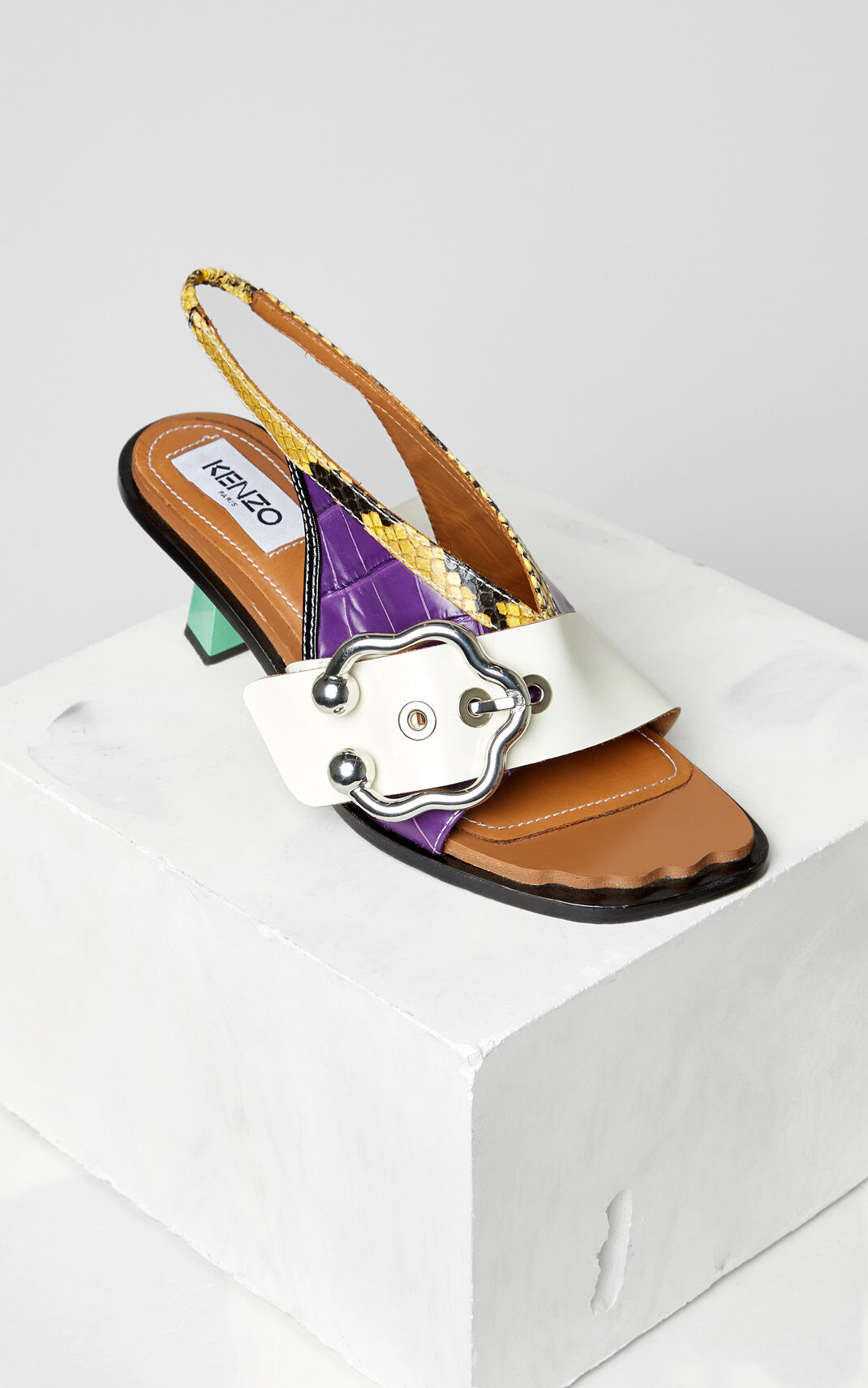 BRIGHT PURPLE Cinthya heeled sandals for women KENZO