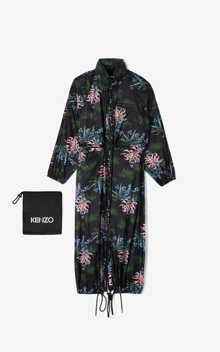 BLACK 'Sea Lily' windbreaker for women KENZO