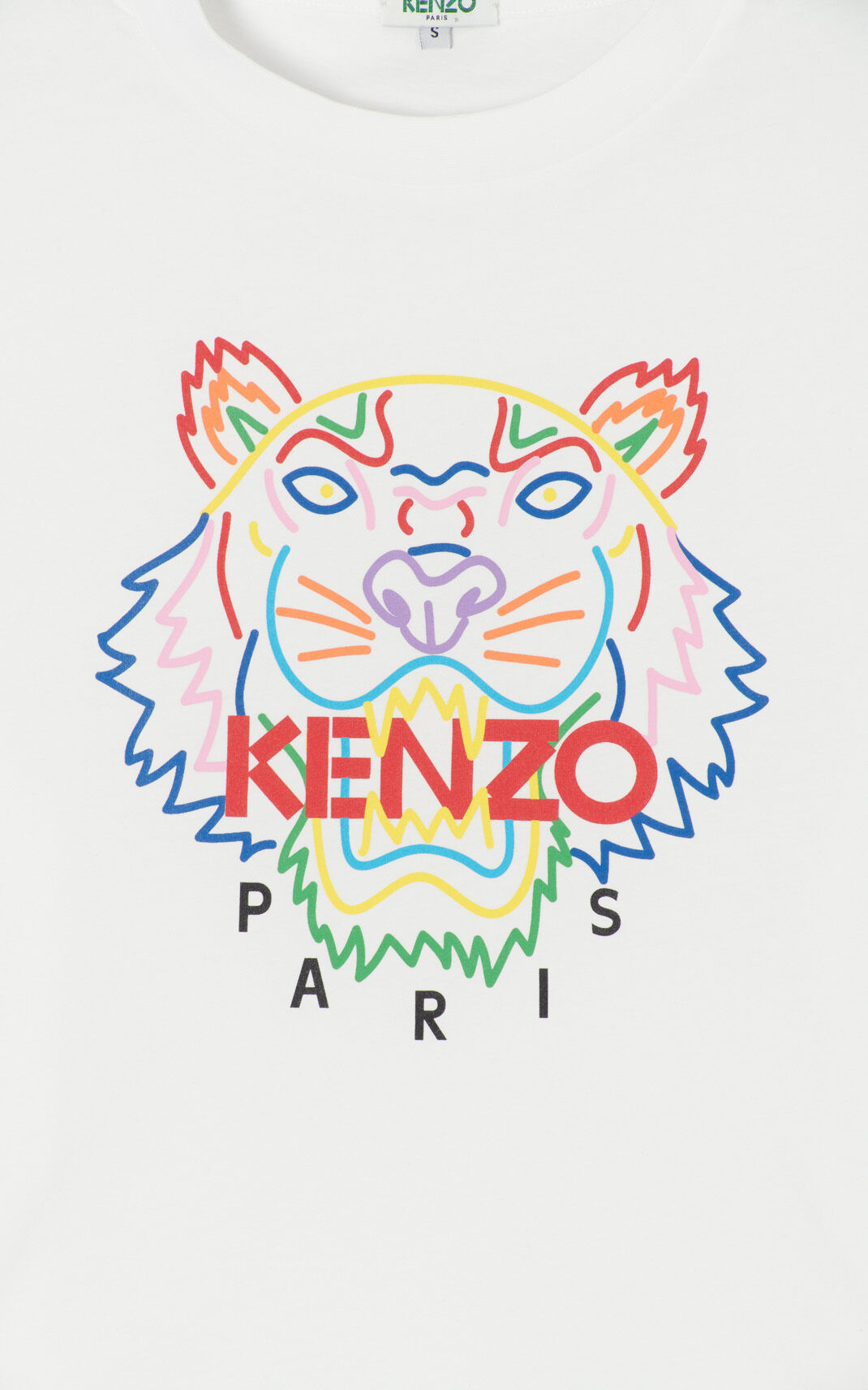WHITE 'High Summer Capsule Collection' Tiger t-shirt for women KENZO