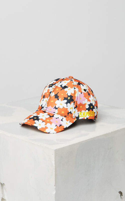 DEEP ORANGE 'Jackie Flowers' Cap for women KENZO