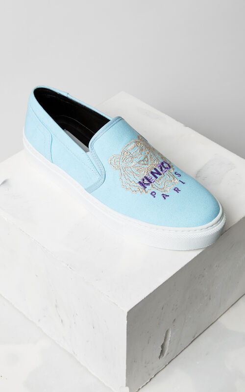 SKY BLUE Tiger slip-on for women KENZO