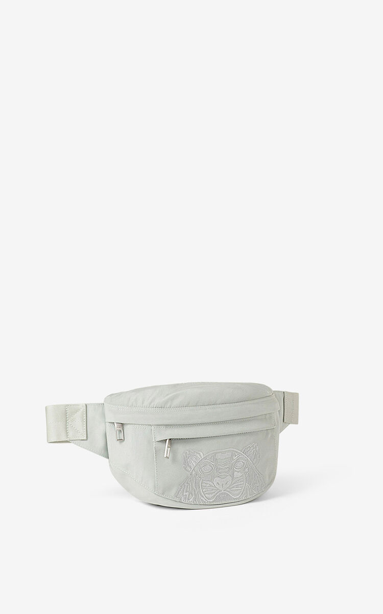 SAGE GREEN Canvas Kampus Tiger bumbag for unisex KENZO