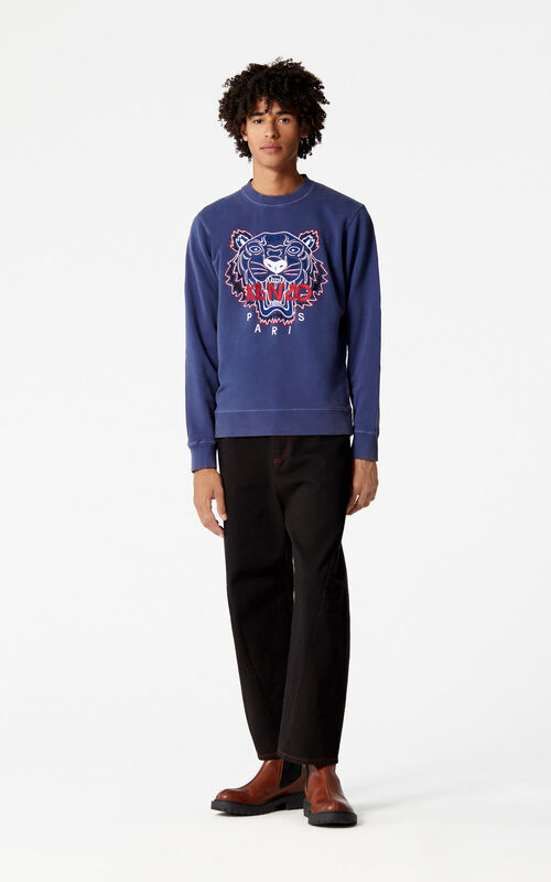 INK 'Bleached Tiger' sweatshirt for men KENZO