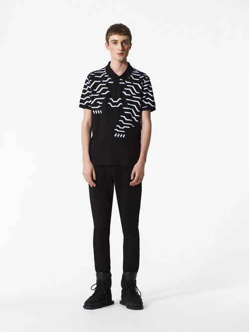 BLACK Geo Tiger polo shirt for men KENZO