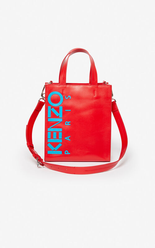 MEDIUM RED Kontrast tote bag for unisex KENZO