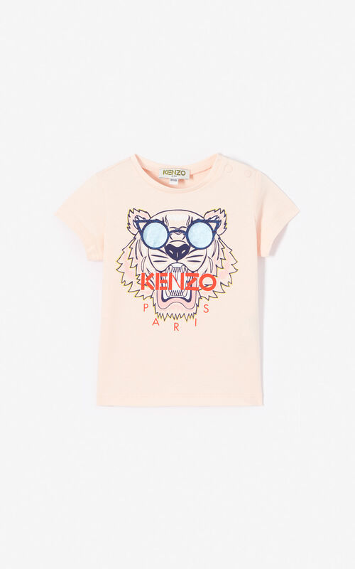 8e162a402 FADED PINK Tiger T-shirt for women KENZO ...