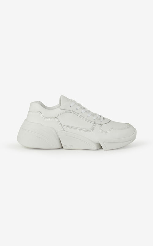 WHITE Kross leather sneakers for unisex KENZO