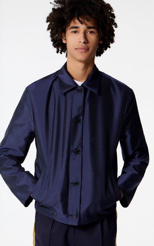 ANTHRACITE Reversible shirt jacket for men KENZO