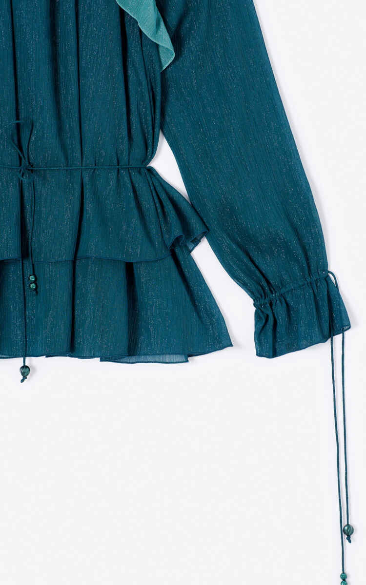 DUCK BLUE Frilled top for women KENZO