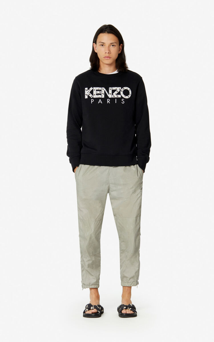 BLACK KENZO Paris sweatshirt for men