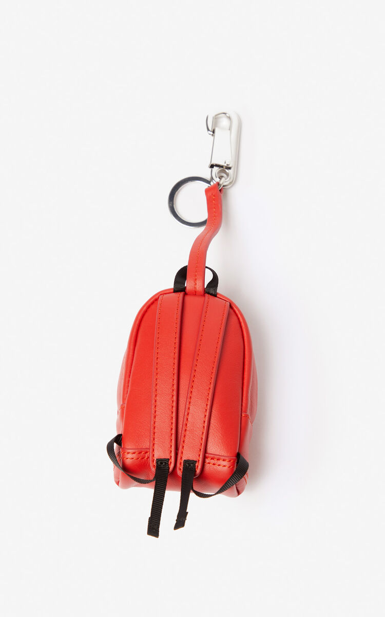 MEDIUM RED Tiger backpack keychain for women KENZO