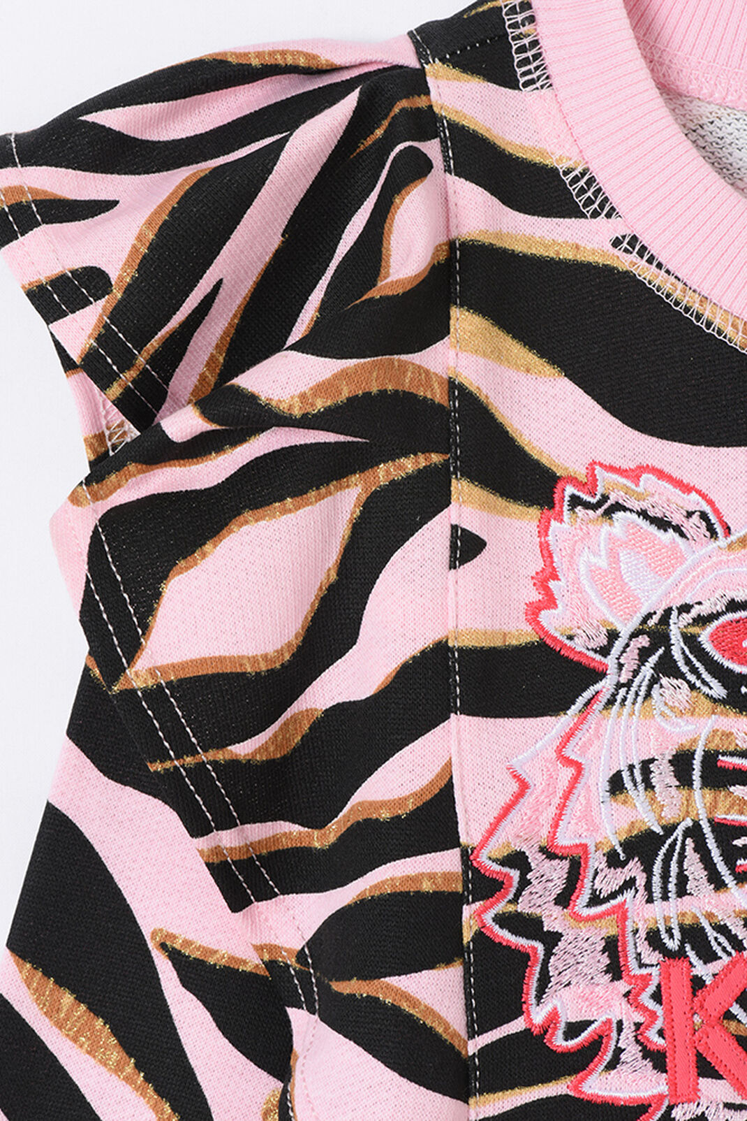 FADED PINK Tiger Stripes Dress for women KENZO
