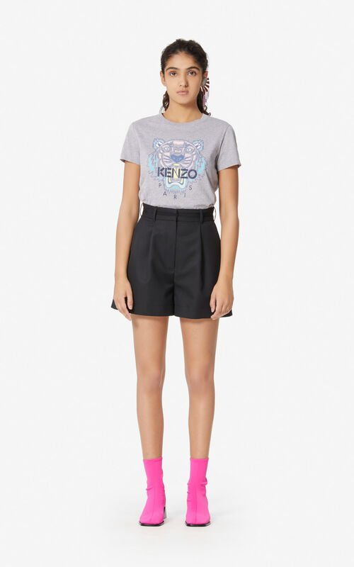 BLACK High-waisted shorts for women KENZO