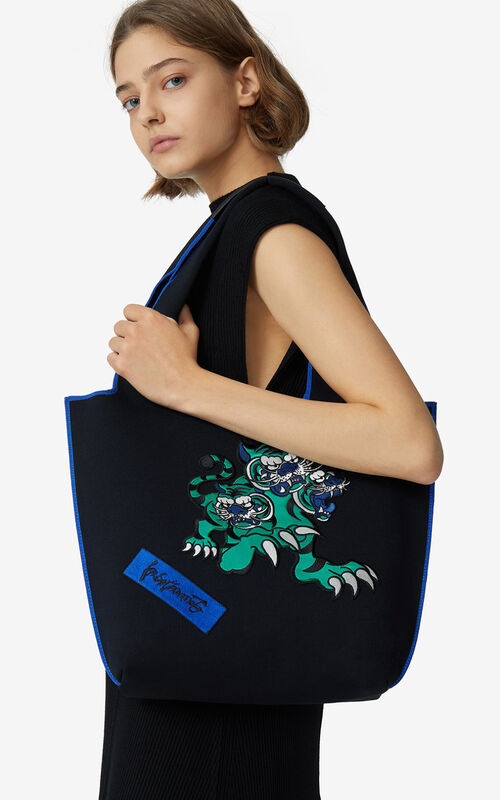 NAVY BLUE KENZO x KANSAIYAMAMOTO small tote bag for women