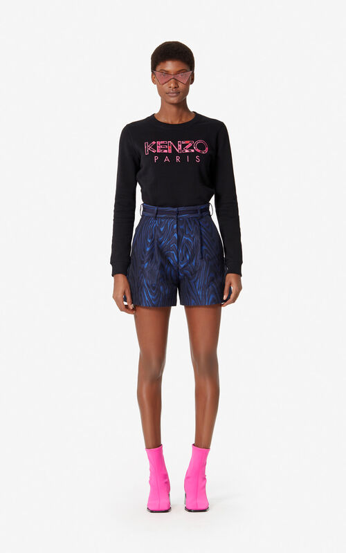 BLACK KENZO Paris 'Peonie' sweatshirt for women