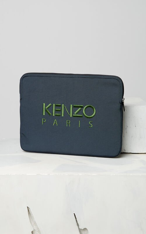 DARK GREY Tiger Laptop Sleeve for unisex KENZO