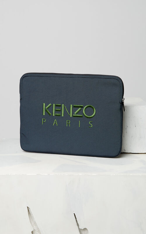 DARK GREY Tiger laptop sleeve for women KENZO