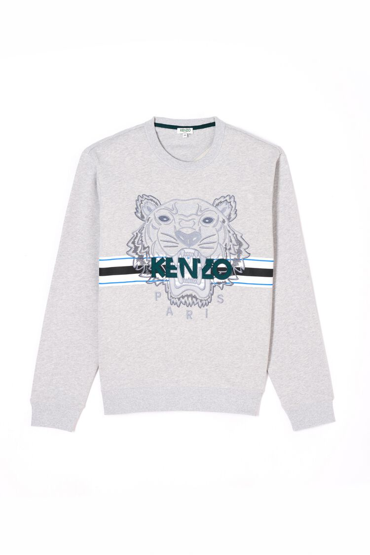 PALE GREY Tiger Sweatshirt for men KENZO