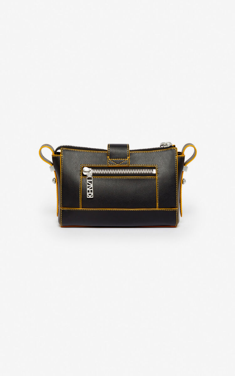 BLACK Mini Kalifornia Sport neoprene leather bag for unisex KENZO
