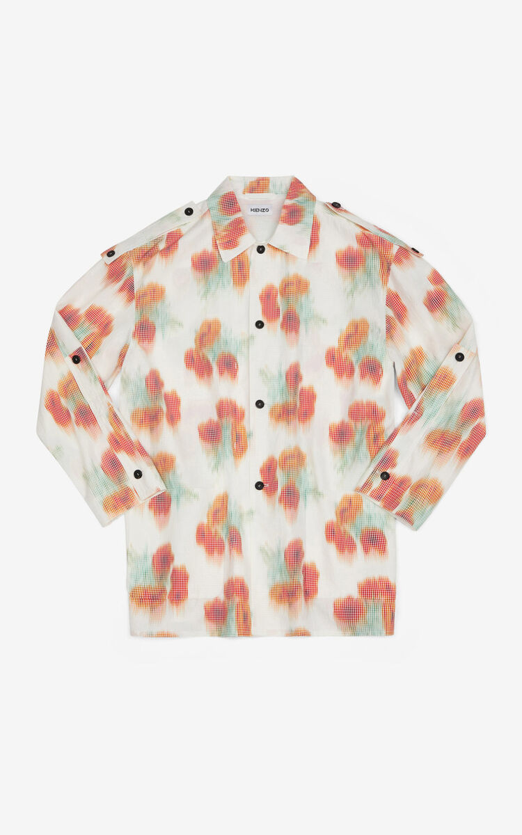 POPPY 'Coquelicot' shirt jacket for men KENZO