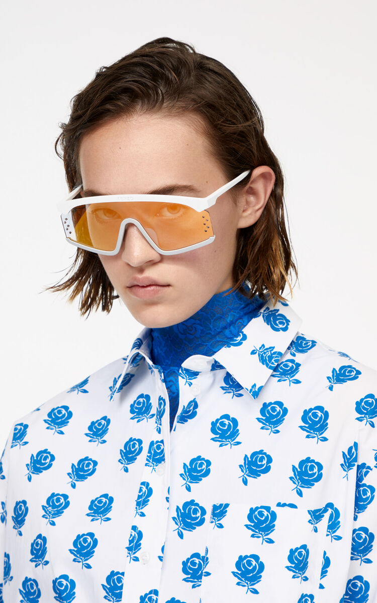 WHITE 'Roses' shirt for women KENZO