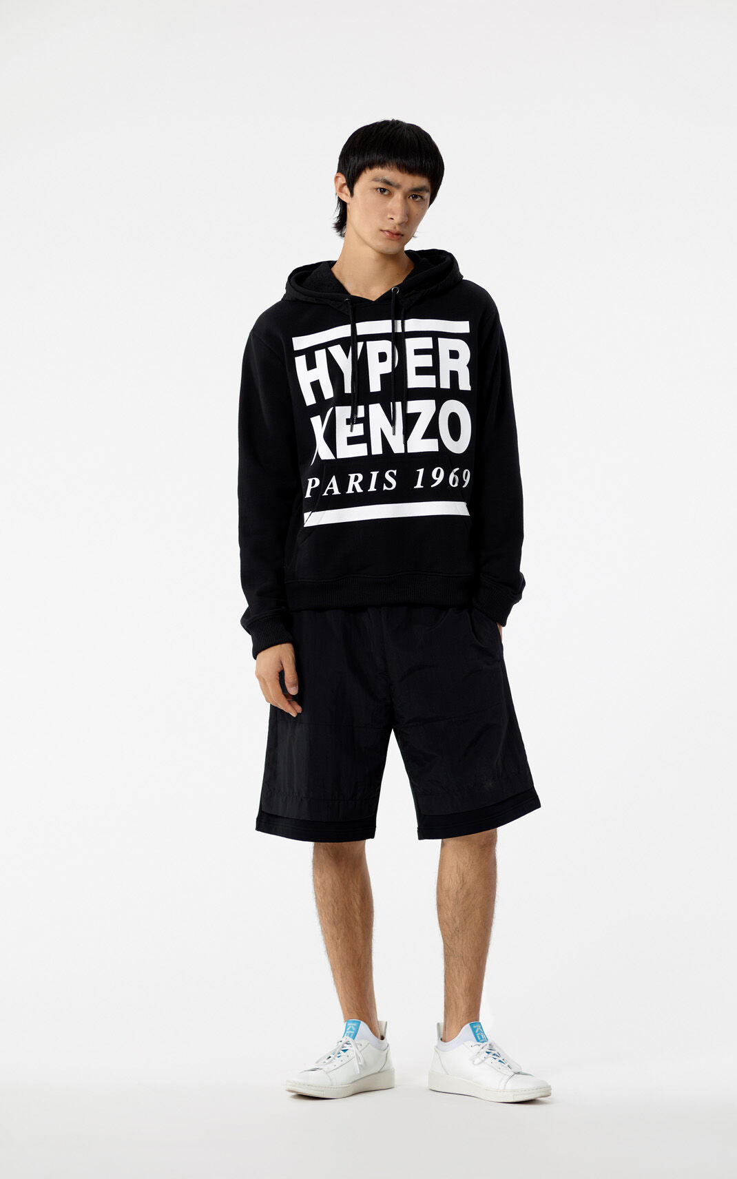 BLACK 'Hyper KENZO' hooded jumper for men