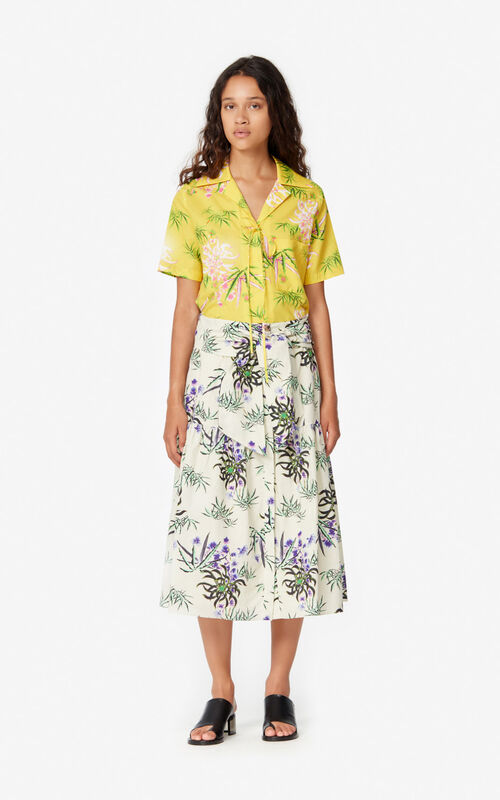 OFF WHITE 'Sea Lily' midi skirt for women KENZO