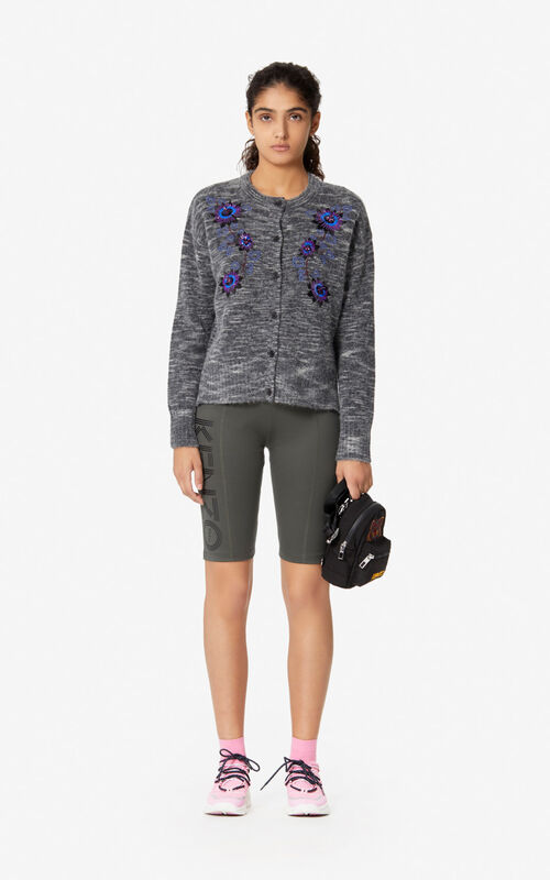 ANTHRACITE 'Passion Flower' cardigan for women KENZO