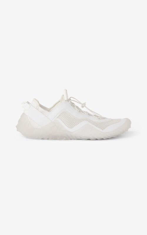 WHITE KENZO Sport Wave mesh sneakers for unisex