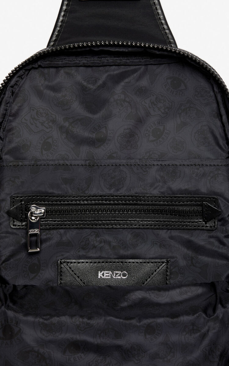 BLACK 'Crew' KENZO logo cross-body bag for unisex