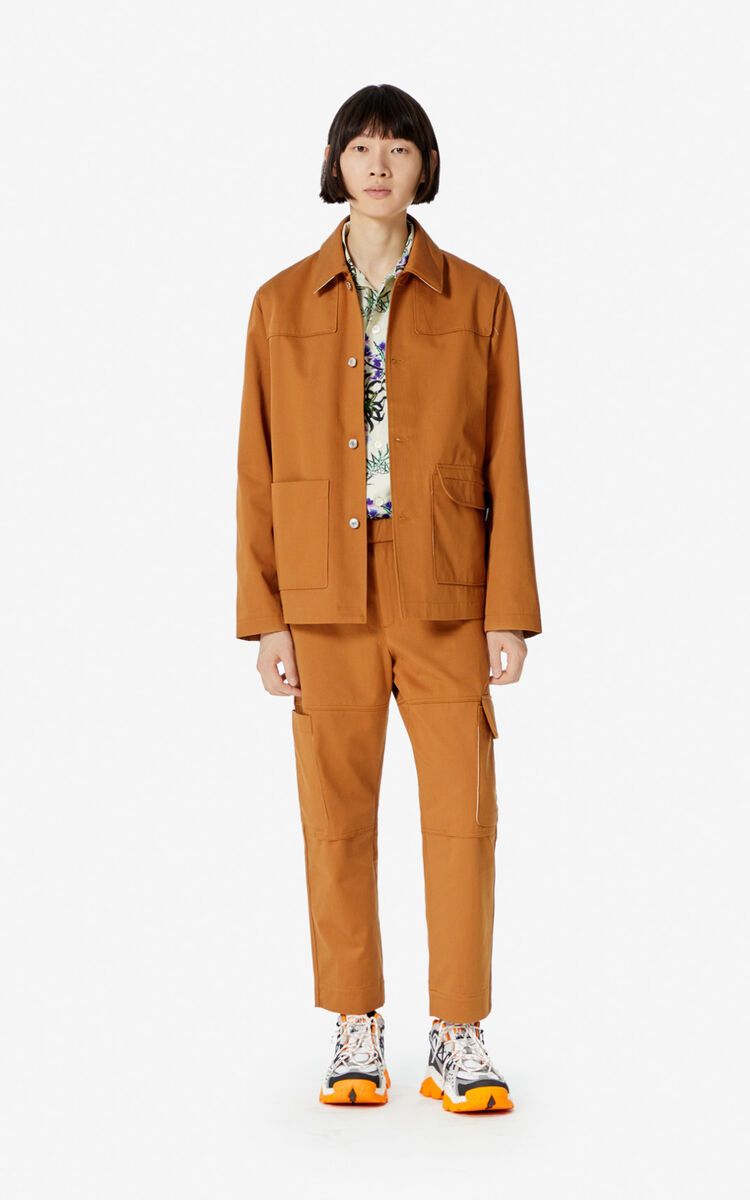 DARK CAMEL 'Workwear' jacket for men KENZO