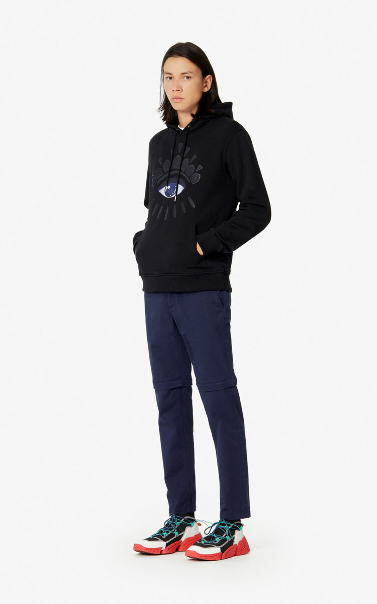 BLACK Hooded Eye sweatshirt for women KENZO