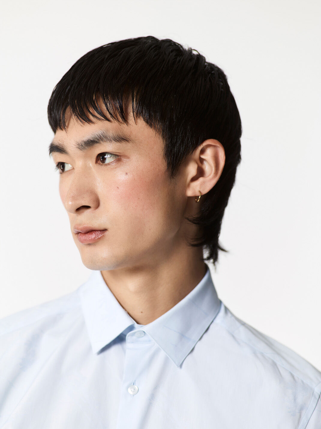 LIGHT BLUE Tone on Tone 'Postcards' Shirt for men KENZO