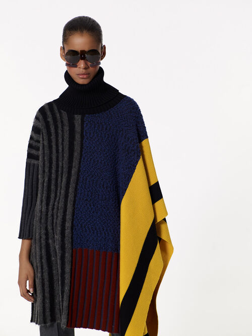 MULTICOLOR Colour block poncho for women KENZO